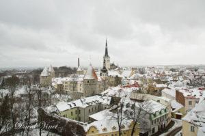 Old Tallinn, Estonia in winter